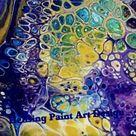 (Fluid104) Acrylic grosse Zellen mit dem Naturkleber Blau von Gerstaecker