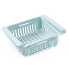 Kue che PP Aufbewahrungsbox Lebensmittel Obstbehaelter Organizer Rack Ausziehbare Schublade Stretch Kue hlschrank Aufbewahrungskorb Blau