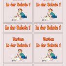 Flashcards Verben In der Schule 1 mittel