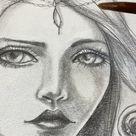 Watercolors over graphite drawings