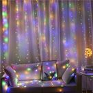 3m 100/200/300 LED Curtain String Light For Party Decoration - Colorful / 3x3M