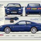 Aston Martin DB7 1994 2004 classic car portrait print