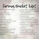 #StayAtHome | Corona bucket list