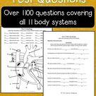 Human Anatomy Test Question Bundle!