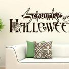 Wandtattoo Schaurige Halloween, Geist