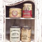 I found these old antique Coffee Tins / cans and had to buy them ! ..... Love the look / decor ! ...... Download the FLEATIQUE APP for IPhone 5 , 5s , 5c ...... A resource app for finding Antique sites / Flea Market sites , etc ...... Vintage antiques old retro grocery store a&p iga coffee cans lover cup mug shabby shabbychic chic fleamarket Nashville Columbus Detroit Pittsburgh Boston Chicago Indianapolis stlouis Dallas Tulsa Oklahoma City Hartford providence
