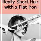 How To Curl Really Short Hair With a Flat Iron – Curling Diva