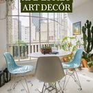 Apartamento colorido estilo art decór
