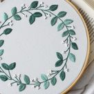 Wreath Hand Embroidery Patterns to Downloads | Etsy