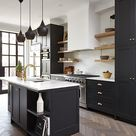 22 Beautiful Black Kitchens that are Trending HOT   The Cottage Market
