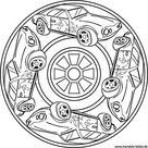 Auto Mandala – Ausmalbild für Jungs ab 8 Jahre