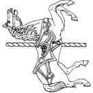 The Carousel Horse Coloring Page