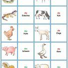 Spiele im Deutschunterricht: Memory - die Tiere