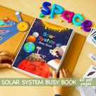 Solar System Worksheet, Busy Book Pages, Preschool Busy Book, Solar System Download, File Folder Game, Busy Binder, Homeschool Worksheet