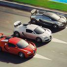 Bugatti Veyron trio