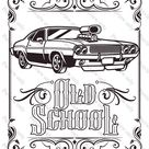 Classic Cars Coloring Pages 3 Pack Print and Color Vehicles Automobiles Vintage Muscle Hot Rods
