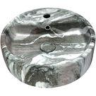 Anzzi Ls Az254 Rhapsody Series Ceramic Vessel Sink In Neolith Marble Finish
