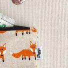 coin purse fox / change purse / cute small zipper pouch