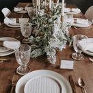 Holiday table decor Christmas