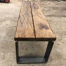Altholz-Stil, rustikal, antik, Balken, Bohle, Eiche, geölt, Massivholz, 160x20x3,5cm