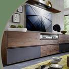 Wohnzimmerschrank aus edlem Massivholz im modernen Design
