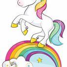 Rainbow Unicorn   Prominente   Pappaufsteller Standy   95x163 cm