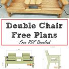 Double Chair Bench Plans | DIY Project