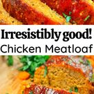 Chicken meatloaf with BBQ sauce