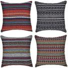 Freeas Set of 4 Mandala Throw Pillow Covers Bohemian Decorative Square 18 X 18 Inch 45 X 45 Cm Boho - Bohemian