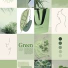 Spice up your room with this aesthetic sage green photo wall!