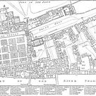 Plan of Palace of Whitehall in 1680.