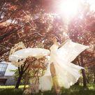 Long chiffon wedding skirt   like flower petals, Evening removable over skirt, Engagement bridal separates skirt, Transparent flying skirt