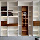 Toro Wohnzimmer Regal mit Schiebetüren weiß Hochglanz nach Maß planen