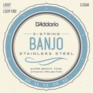 D'Addario EJS60 Stainless Steel 5-string Banjo Strings - .010-.020 Light