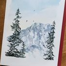 Embrace your inner adventure by learning to paint loose watercolor pine trees like th… [Video] | Wat