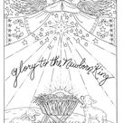 Christmas Christian Coloring page Holidays Coloring Adult Scriptures