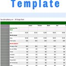 Free Excel Monthly Budget Template to Track Cash Flows