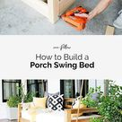How to Build a Porch Swing Bed - Plank and Pillow