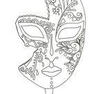 coloriage pour adulte anti-stress, masque de Venise à imprimer et a colorier