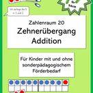 Einführung des Zehnerübergangs, Addition ZR20 – Unterrichtsmaterial im Fach Mathematik