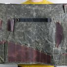 Bartender Gift, Mens Gift, Hand Waxed Canvas Bag, Bartender Roll, Bar Man Bag, Wrap Bag, Tools Case, Leather Roll, Bar Bag, Christmas Gift
