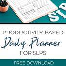 Productivity-Based Planner for SLPs