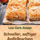 Schneller, saftiger Low-Carb-Apfelkuchen - Rezept ohne Zucker
