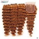 63.08US $ 48% OFF Ginger Brazilian Gold Blonde Deep Wave Bundles With Closure Human Hair Colored Bundles With Closure Honey Blonde Non remy Weaves 3/4 Bundles with Closure    - AliExpress