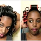 Wet Roller Set Tutorial + Results | Relaxed Hair