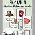 Buchstabe M - Alphabetisierung - Bildkarten - Anlaut