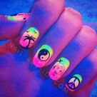 Peace Sign Nails