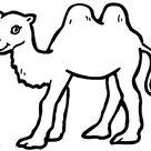 Kleurplaat: kleurplaat-kameel-1.jpg