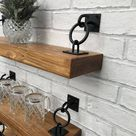 Rustic Industrial Handmade Floating Shelves Shelf Solid Wood