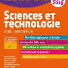 Sciences et technologie oral/admission. Professeur des écoles CRPE  Edition 2018   Daniel Richard,Jean Paul Bellier,Patrick Chevalet,Benoît Jeunier